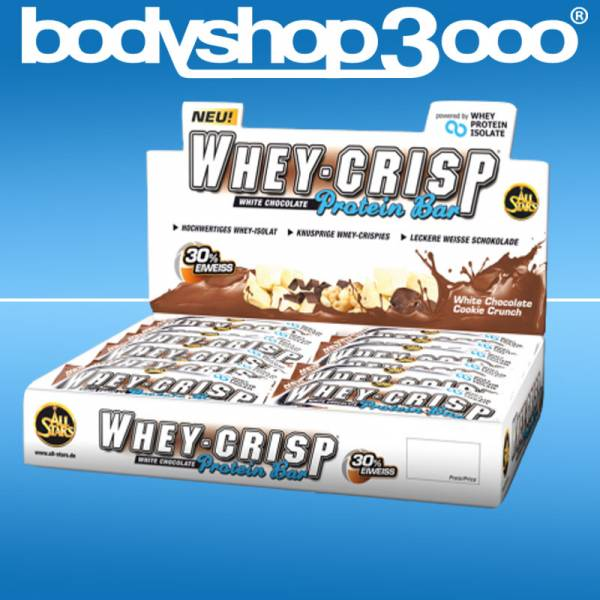 All Stars Whey-Crisp Bar,24 Riegel a` 50g