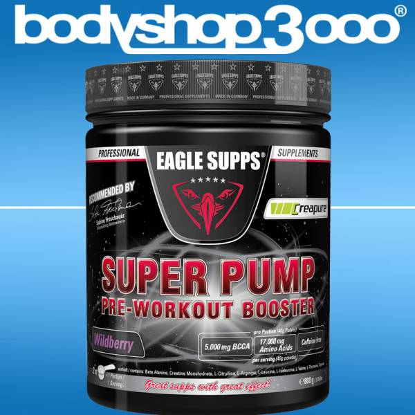 EAGLE SUPPS Super Pump Pre-Workout Booster 800g