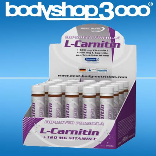 Best Body Nutrition L-Carnitin + Vit.C, 20 Fläschchen á 25ml