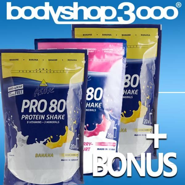 Inko Active Pro 80 Protein 3 x 500g Inkospor Eiweiß