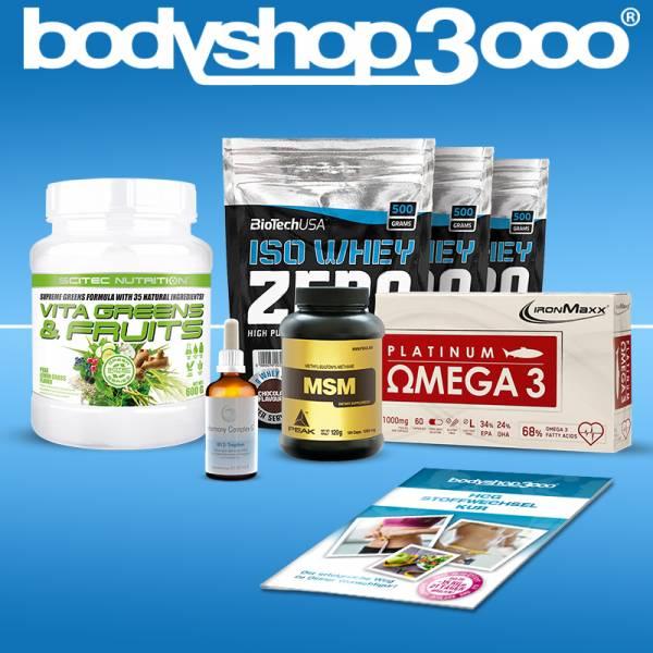 Stoffwechselkur HCG Diät Komplettpaket ink. 1,5 kg Whey Isolat und Hormony Complex G® B12-Tropfen