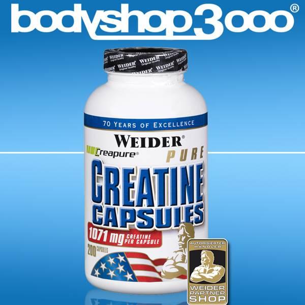 Weider 200 Pure Creatine Capsules