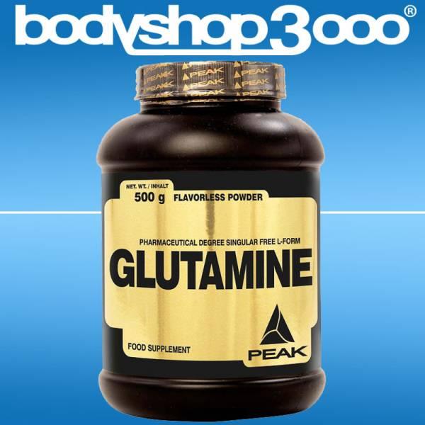 Peak L-Glutamin 500g Dose mit Vitamin B 6 + 12
