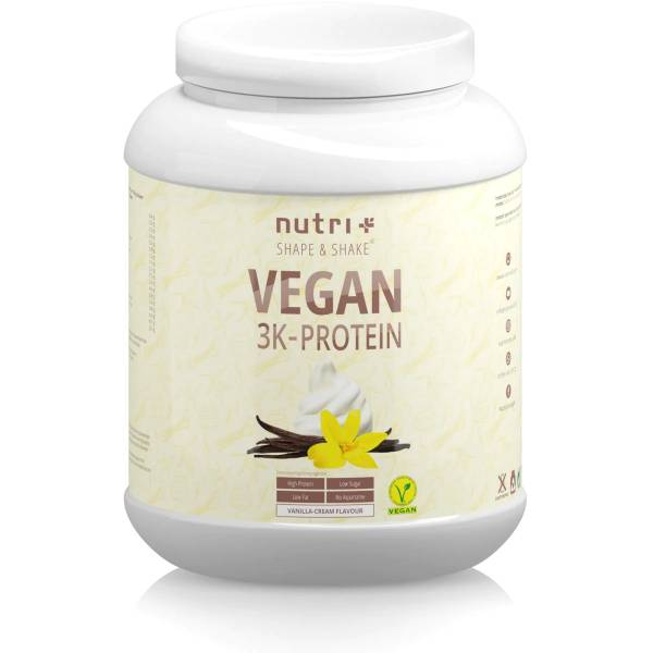 Nutri + Vegan 3K Proteinpulver 1 kg Dose