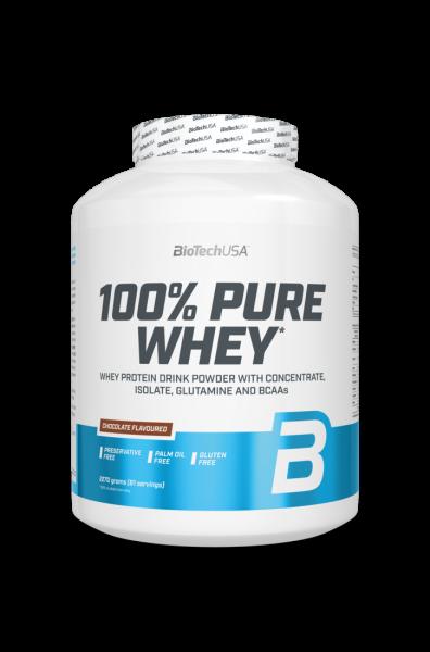Biotech USA Eiweiß 100% Whey Protein Pulver 2270g + Bodyshop3000 Shaker
