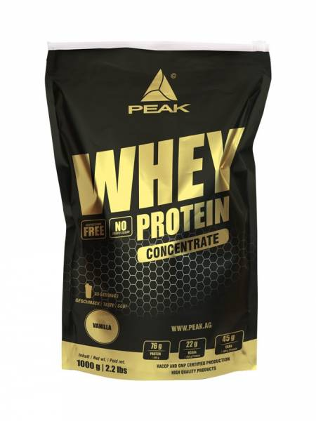 Peak Whey Concentrate Protein 1000g Beutel