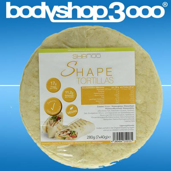 Shanoo Shape Lowcarb Tortilla Wraps 280 g