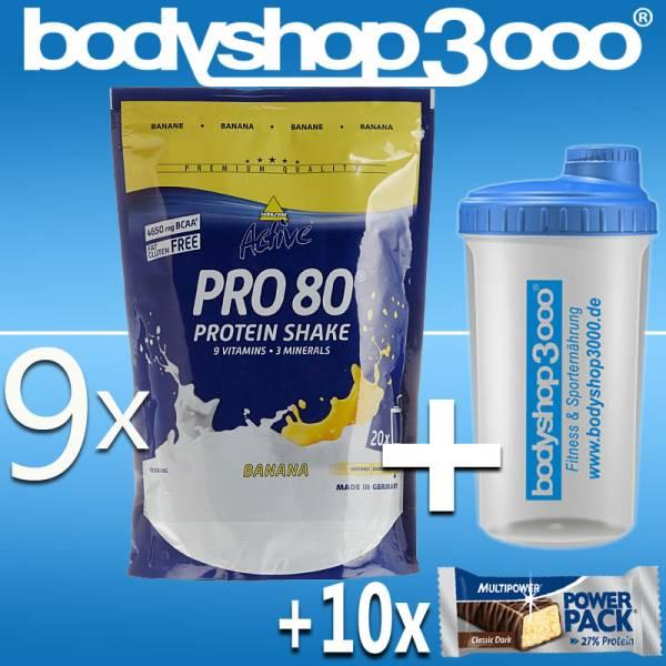 Inko Active Pro 80 Protein 9 x 500g Inkospor Eiweiß