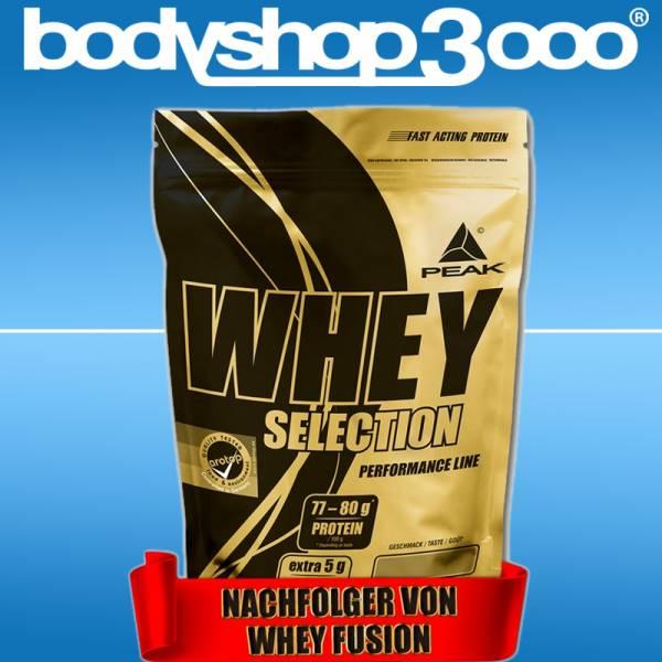 Peak Whey Protein Selection 1kg Beutel Eiweiß + Bonus