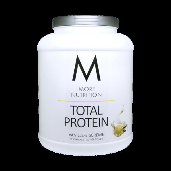 More Nutrition Total Protein Whey und Casein Eiweiß Mix + Lactase 1500 g Dose