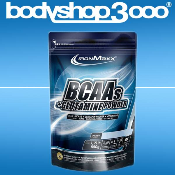 Ironmaxx - BCAAs + Glutamine Powder (550g Standbeutel)