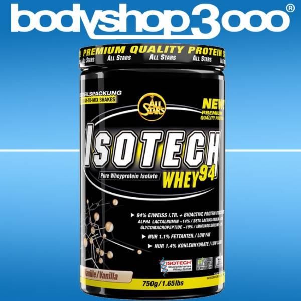 All Stars Isotech Whey 94, 750 g Dose