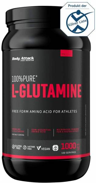 Body Attack 100% Pure L-Glutamine - 1kg