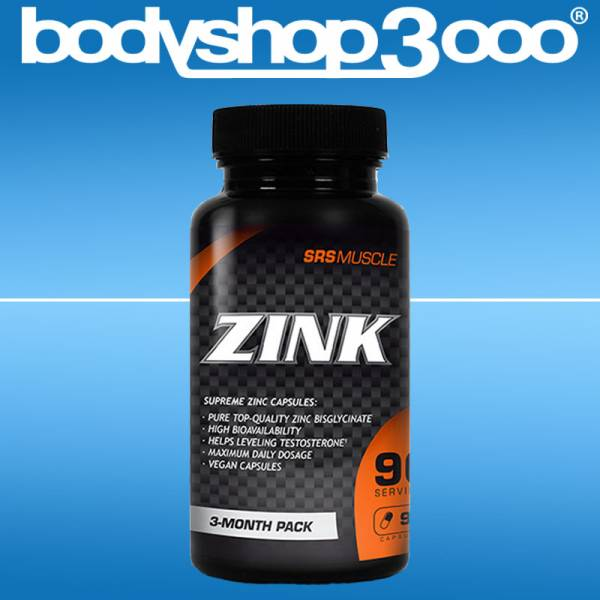 SRS MUSCLE Zinc - SUPREME Zink CAPSULES, 90 Kapseln Dose