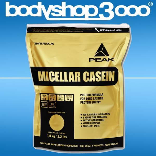Peak Eiweiß Micellar Casein 1 KG Protein Zip-Bag